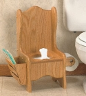 Oak Potty Chair Woodworking Plan