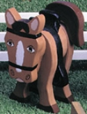 Layered Pony Woodcraft Pattern