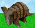 Layered Armadillo Woodcraft Pattern