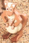 Layered Kangaroo Woodcraft Pattern