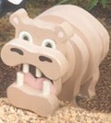 Layered Hippo Woodcraft Pattern