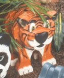 Layered Tiger Woodcraft Pattern