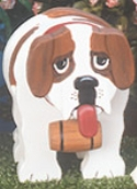 Layered Saint Bernard Woodcraft Pattern
