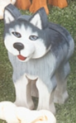 Layered Husky Woodcraft Pattern