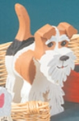 Layered Fox Terrier Woodcraft Pattern