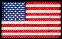 Large Lighted Flag Wood Pattern