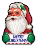 Merry Santa Magnet