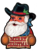 Western Santa Magnet    