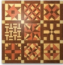Geo Shape Wood Quilt Design #2