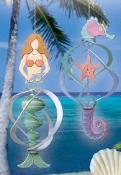 Mermaid & Seahorse Wind Spinners Pattern