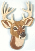 Ten-Point Buck Intarsia Pattern