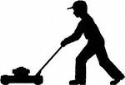 Mowing Man Shadow Woodcraft Pattern