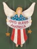 Americana Angel Door Decor