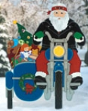Motorcyclin' Santa Woodcraft Pattern