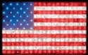 Small Lighted Flag Wood Pattern