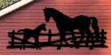 Horse & Colt Shadow Woodcraft Pattern