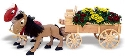Draft Horses & Wagon Planter Pattern