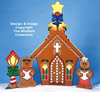 Gingerbread Church Wood Pattern
