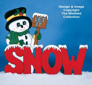 Let It Snowman Woodcraft Pattern