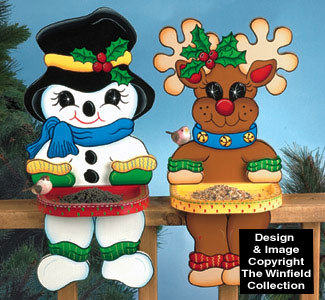Winter Fence Top Birdfeeders Pattern