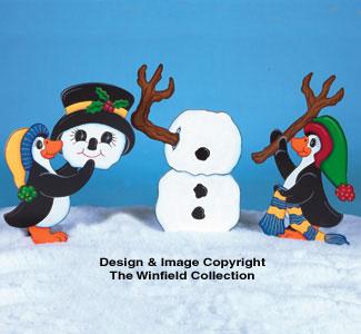 Penguins Building Frosty Pattern