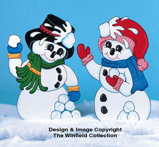 Snowball Fight Pattern Woodcraft Pattern