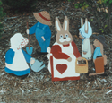 Garden Couple & Bunny Family Pattern