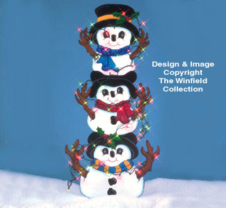Tangled Snowman Pattern