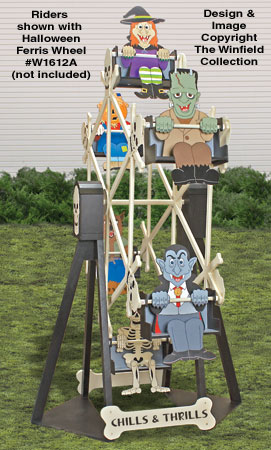 Halloween Ferris Wheel Riders Pattern