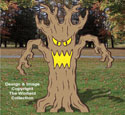 Giant Spooky Tree Wood Pattern