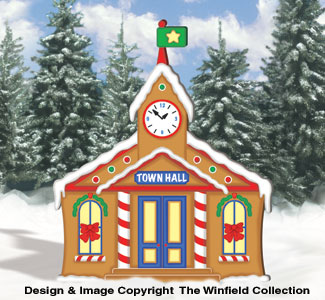 Gingerbread Town Hall Woodcraft Pattern