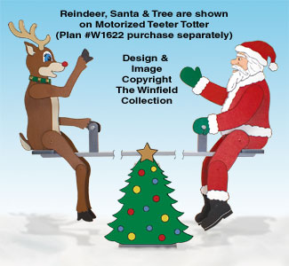 Teetering Santa and Reindeer Pattern