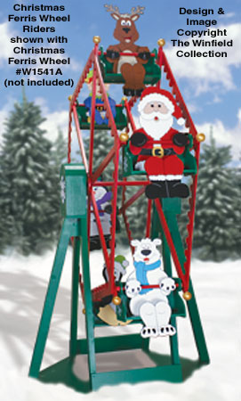 Christmas Ferris Wheel Riders Pattern