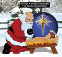 Santa with Baby Jesus Wood Pattern