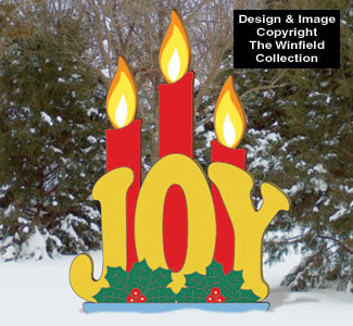 Candlelight JOY Wood Pattern
