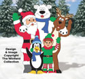 Waving Christmas Pals Woodcraft Pattern