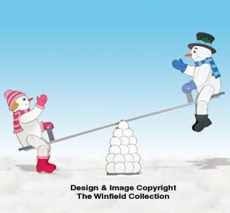 Teetering Snow Couple Pattern