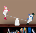 Tabletop Teetering Snow Couple Pattern