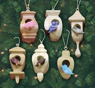 Compound Cut Birdhouse Ornaments Pattern