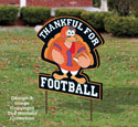 Turkey Football Sign Pattern