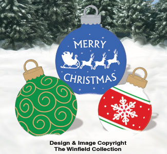 Giant Ornaments 4 Woodcraft Pattern
