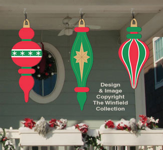 Holiday signs giant ornaments 5 woodcraft pattern for Christmas yard signs patterns