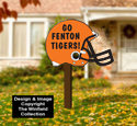 Large Football Helmet Sign Pattern