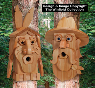 Cedar Cowboy & Indian Birdhouse Plans