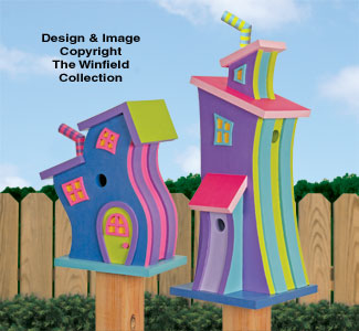 Whimsical Birdhouses Pattern
