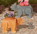 Puppy and Kitten Flower Pot Planter Plans