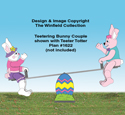 Teetering Bunny Couple Pattern