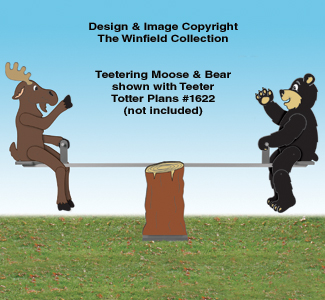 Teetering Moose and Bear Pattern