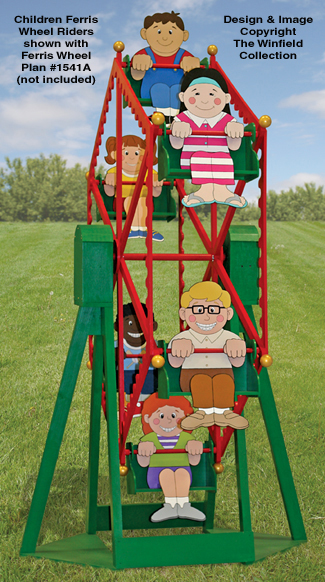 Children Ferris Wheel Riders Pattern