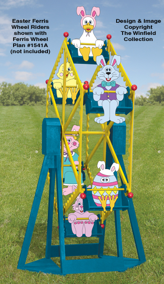 Easter Ferris Wheel Riders Pattern Set